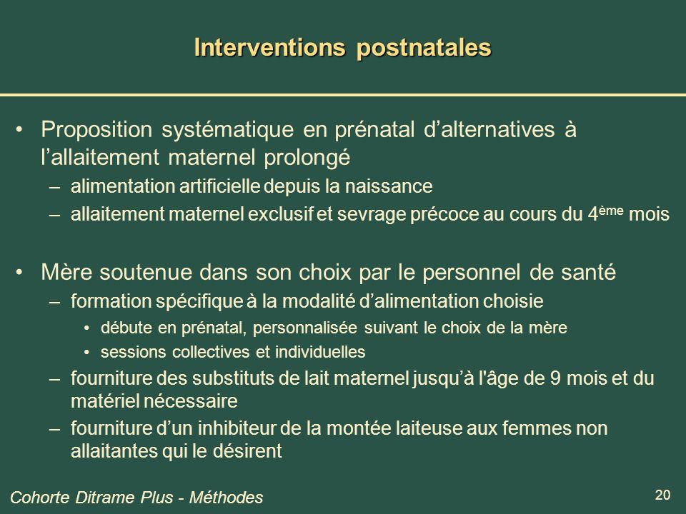 Interventions postnatales