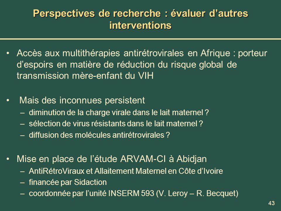 Perspectives de recherche : évaluer d'autres interventions