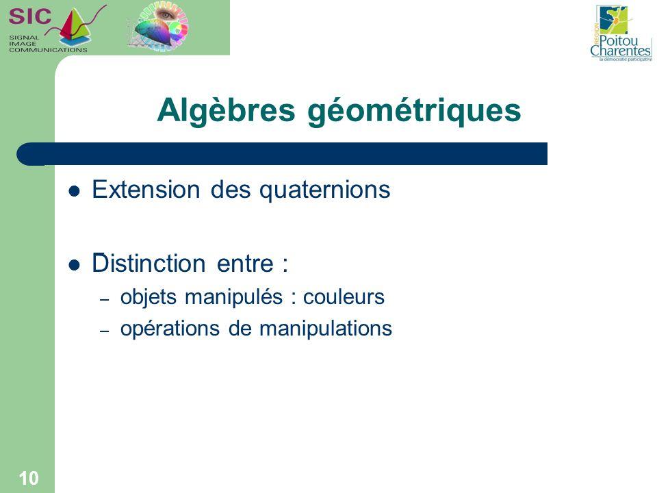 Algèbres géométriques