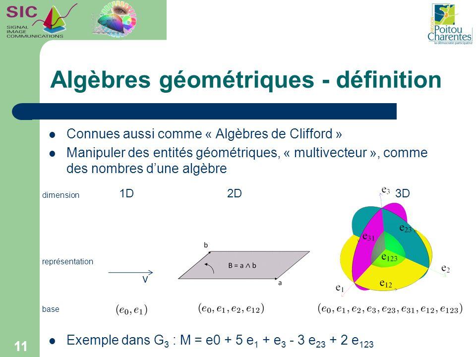 Algèbres géométriques - définition