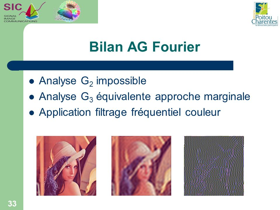 Bilan AG Fourier Analyse G2 impossible