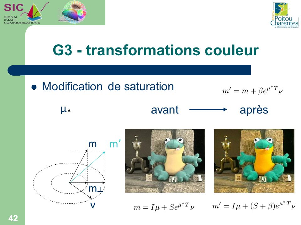 G3 - transformations couleur