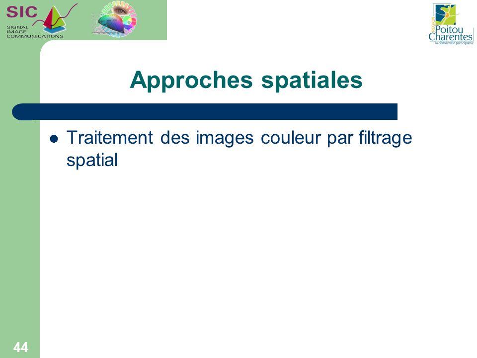 Approches spatiales Traitement des images couleur par filtrage spatial