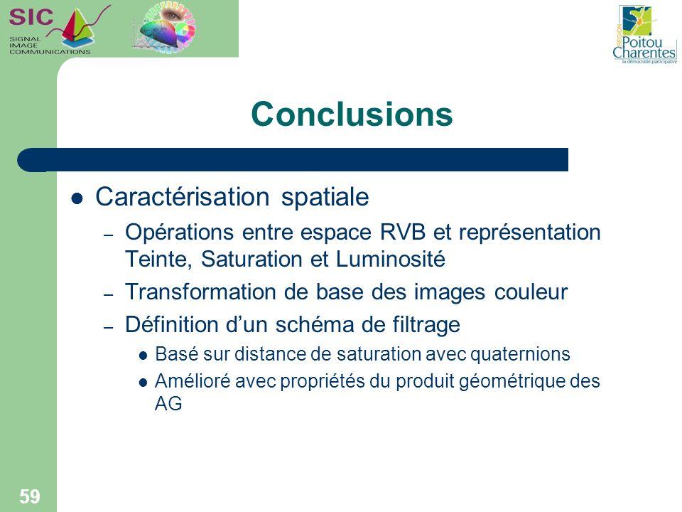 Conclusions Caractérisation spatiale