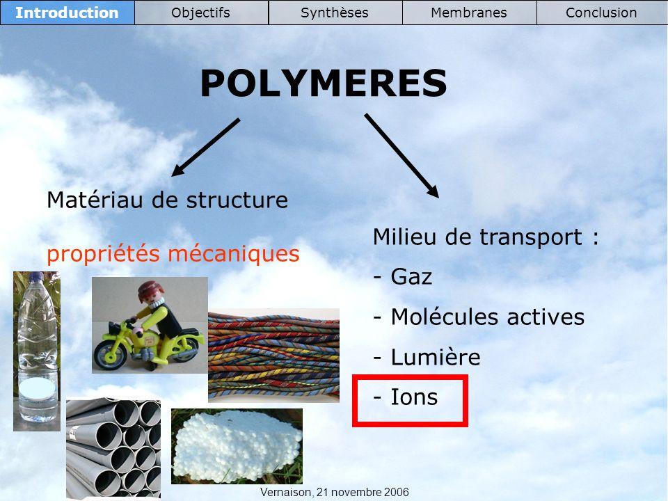 POLYMERES Matériau de structure propriétés mécaniques