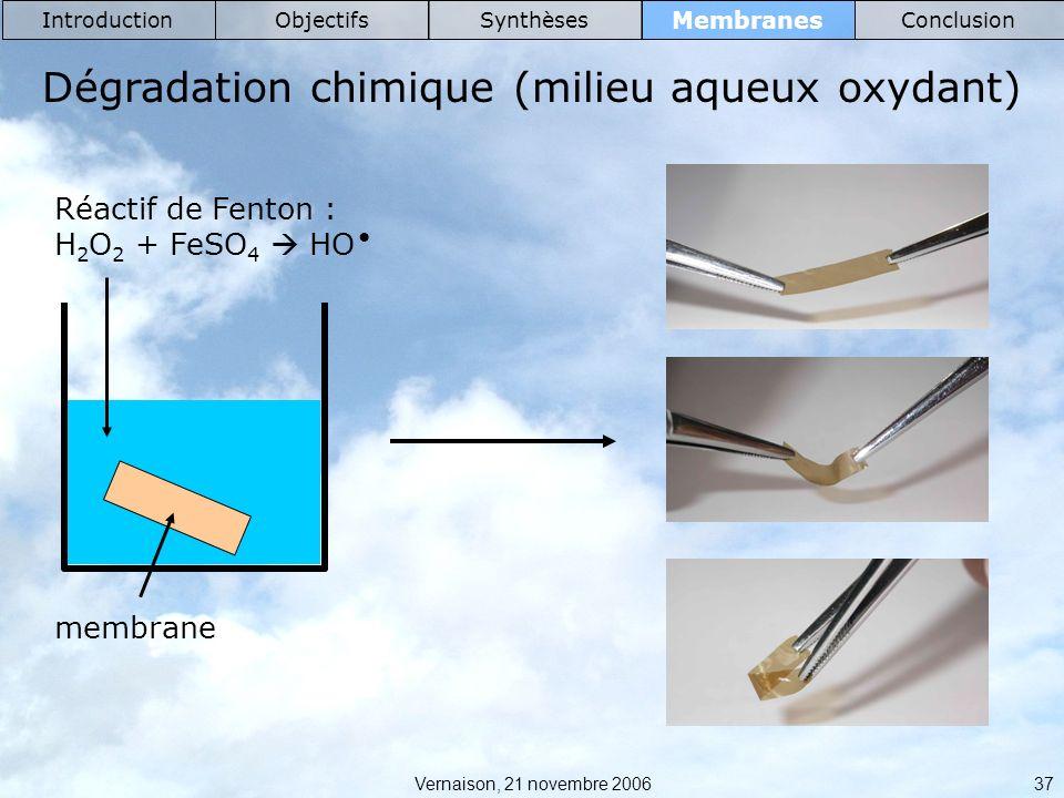 Dégradation chimique (milieu aqueux oxydant)