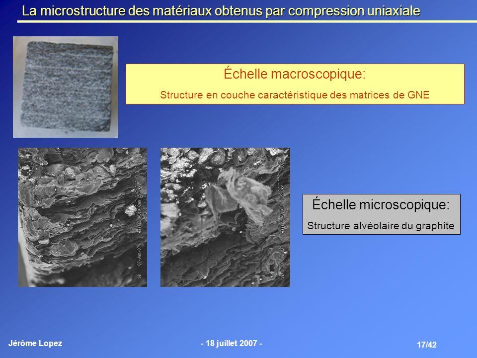 La microstructure des matériaux obtenus par compression uniaxiale