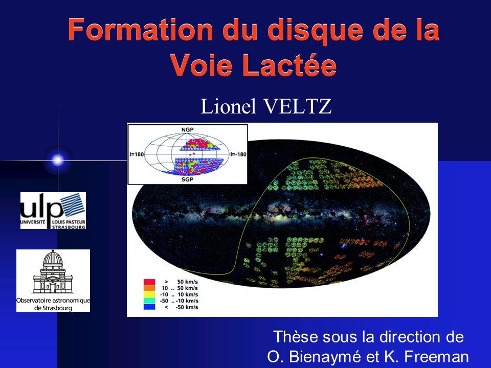 Formation du disque de la Voie Lactée