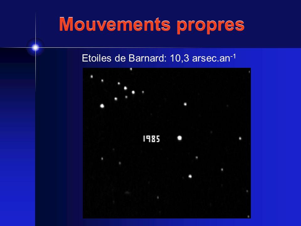 Etoiles de Barnard: 10,3 arsec.an-1