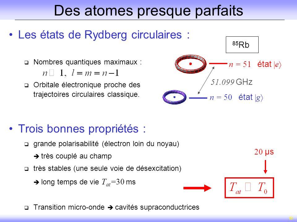 Des atomes presque parfaits