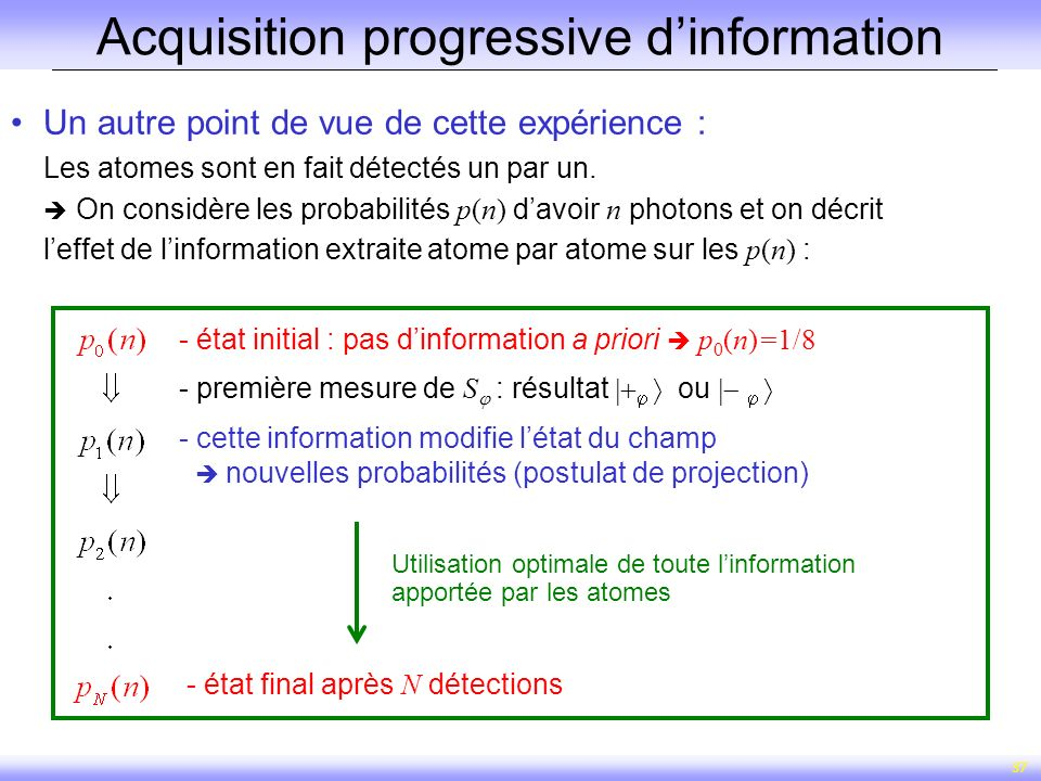 Acquisition progressive d'information
