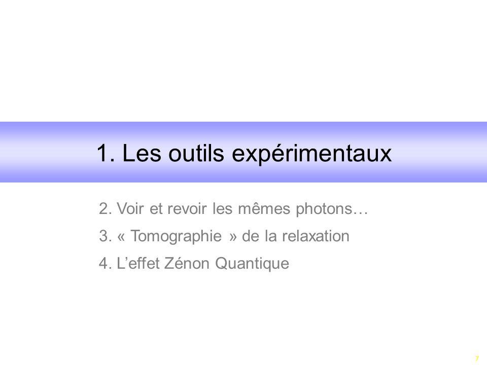 1. Les outils expérimentaux