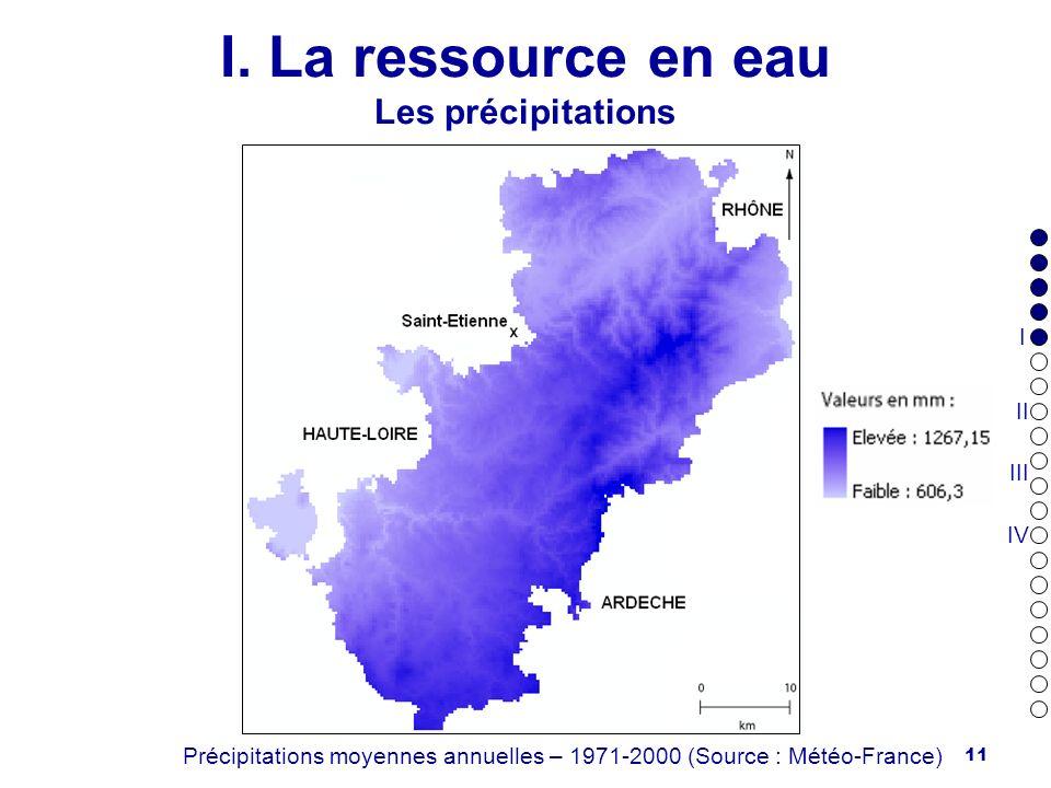 I. La ressource en eau Les précipitations