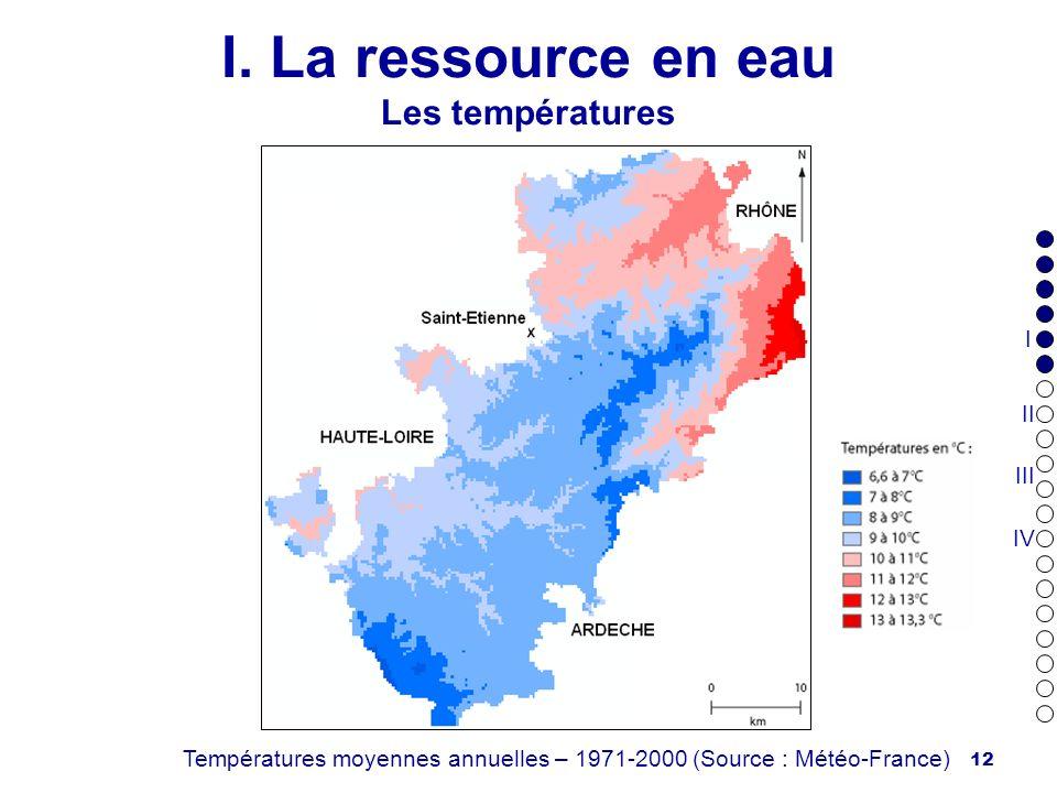I. La ressource en eau Les températures