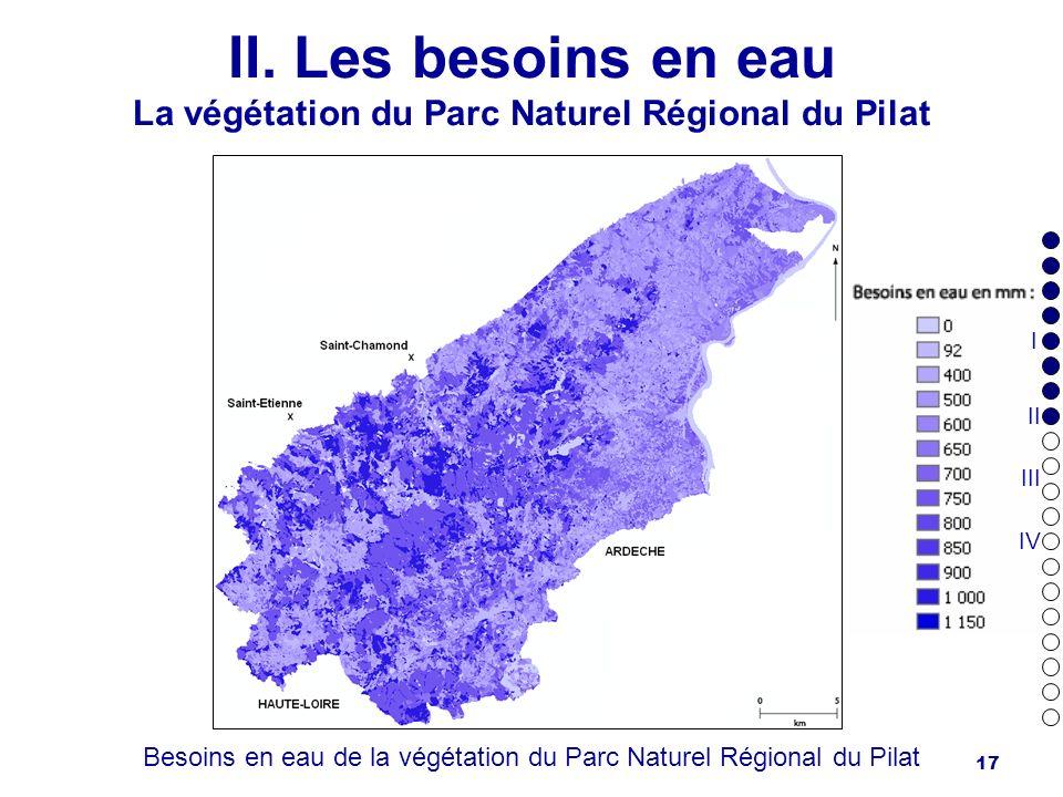 II. Les besoins en eau La végétation du Parc Naturel Régional du Pilat