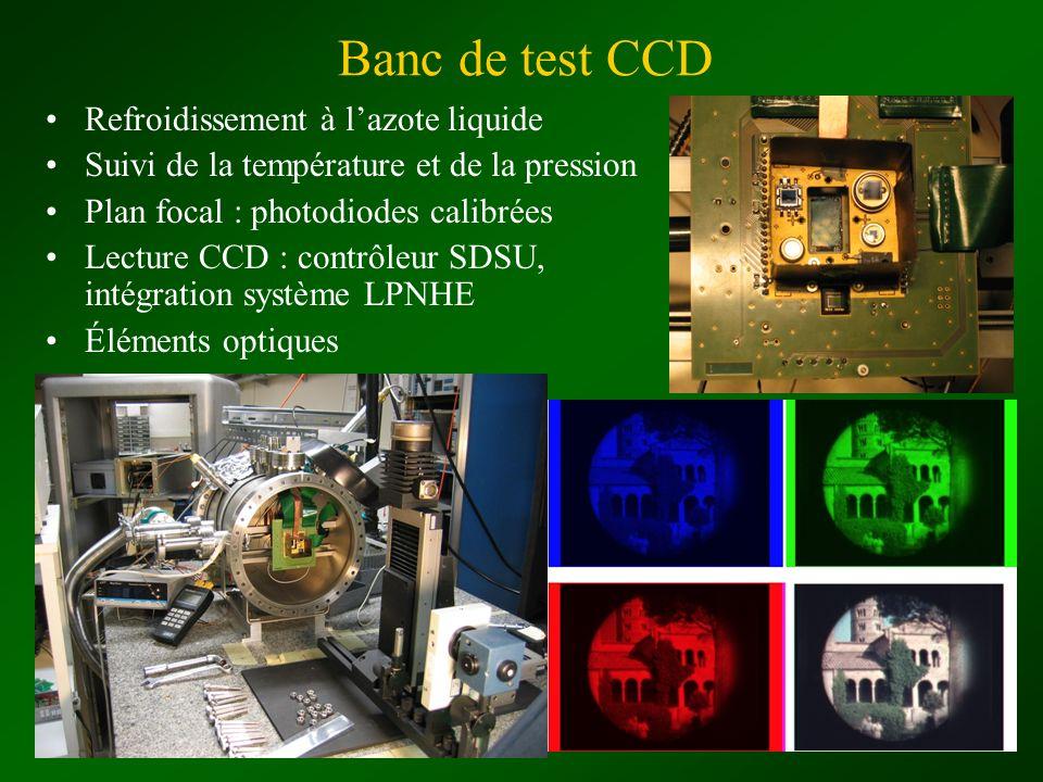 Banc de test CCD Refroidissement à l'azote liquide