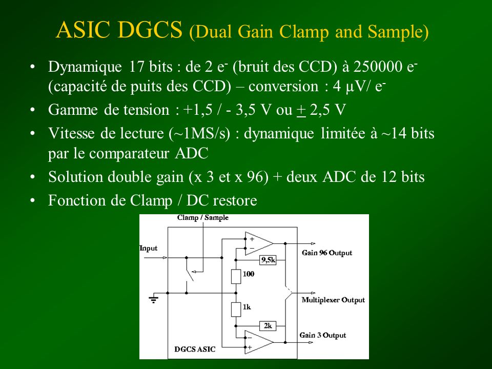 ASIC DGCS (Dual Gain Clamp and Sample)