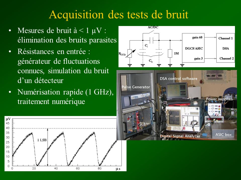 Acquisition des tests de bruit