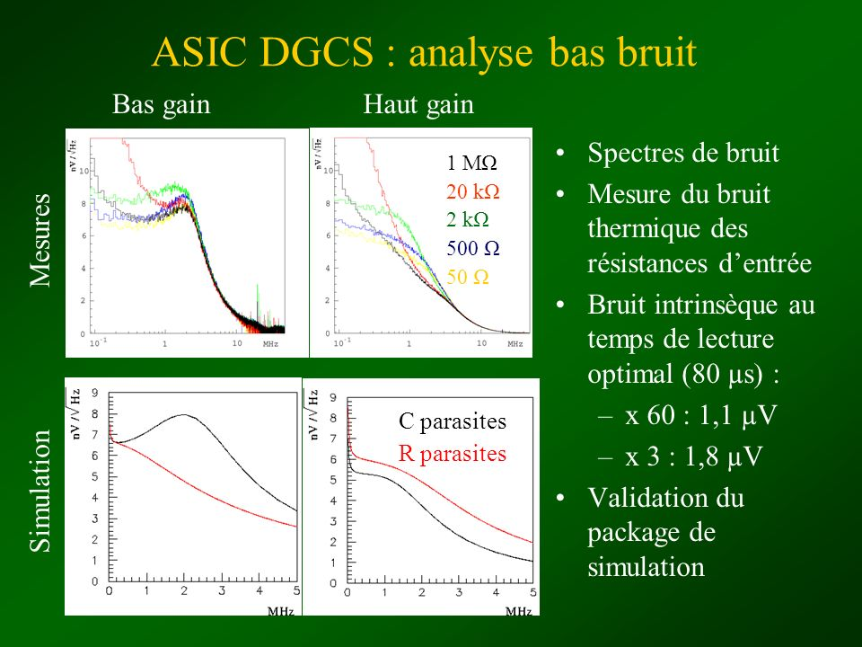 ASIC DGCS : analyse bas bruit