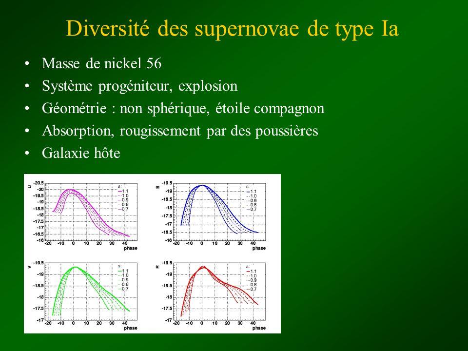 Diversité des supernovae de type Ia