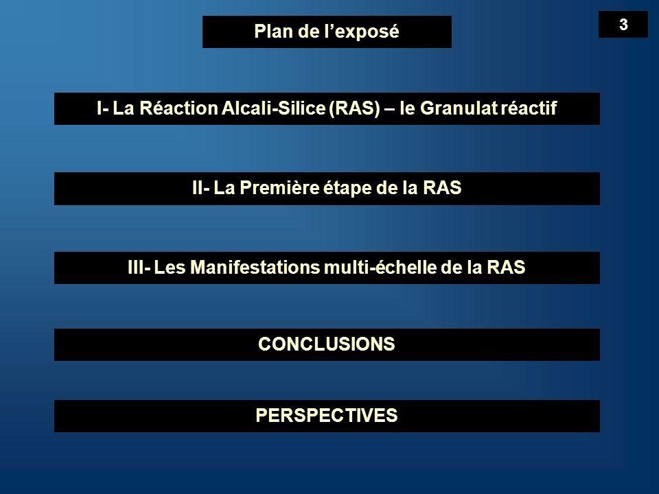 I- La Réaction Alcali-Silice (RAS) – le Granulat réactif