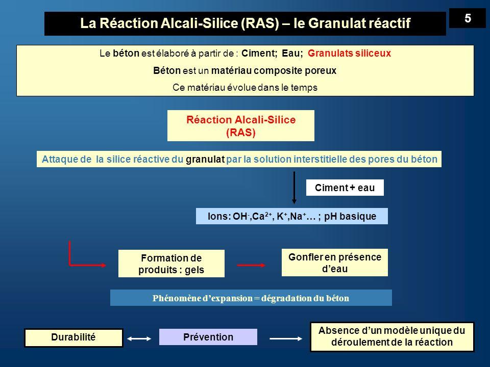 La Réaction Alcali-Silice (RAS) – le Granulat réactif