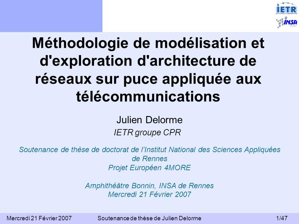 Méthodologie de modélisation et d exploration d architecture de réseaux sur puce appliquée aux télécommunications