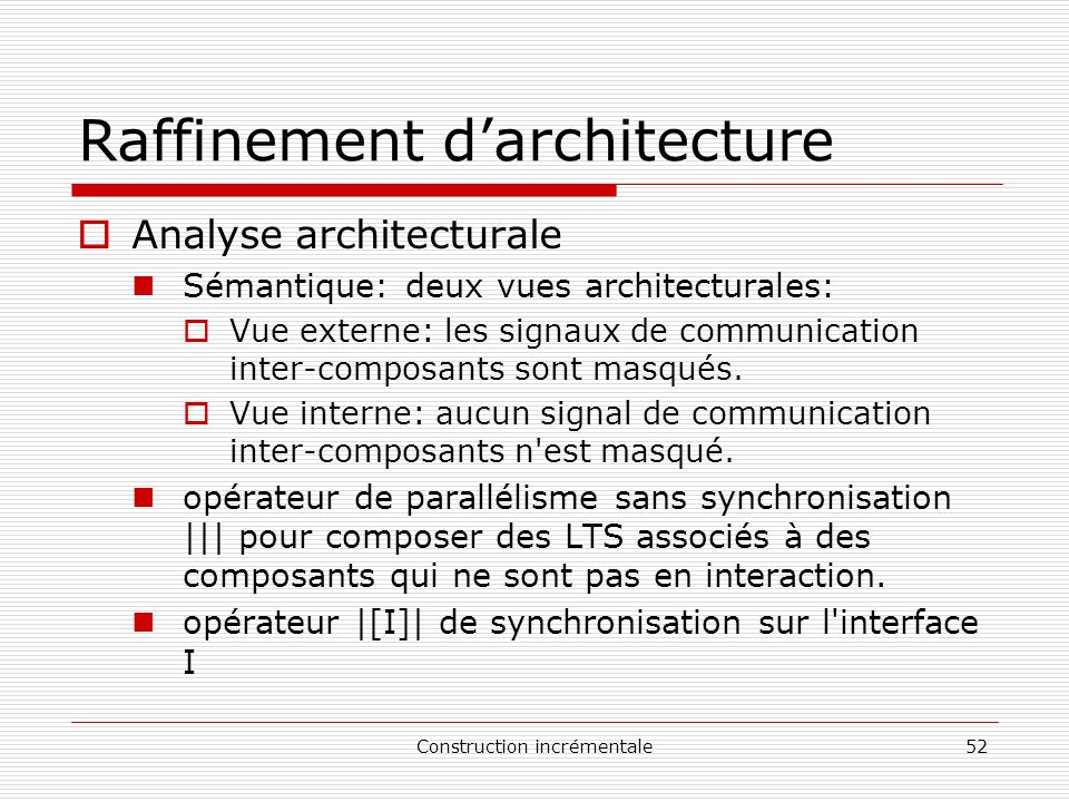 Raffinement d'architecture