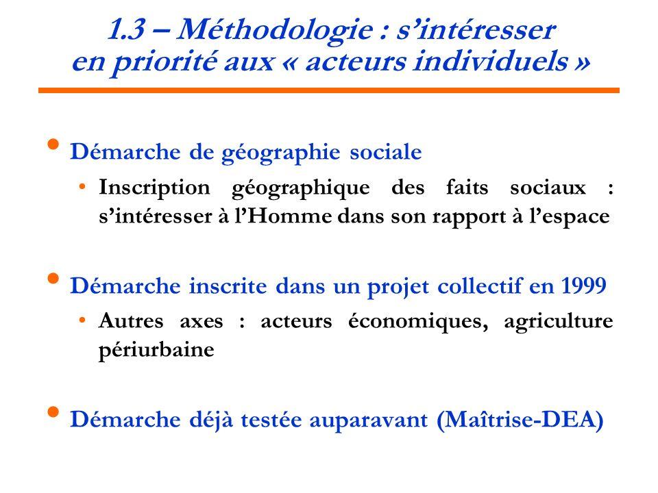 1.3 – Méthodologie : s'intéresser en priorité aux « acteurs individuels »