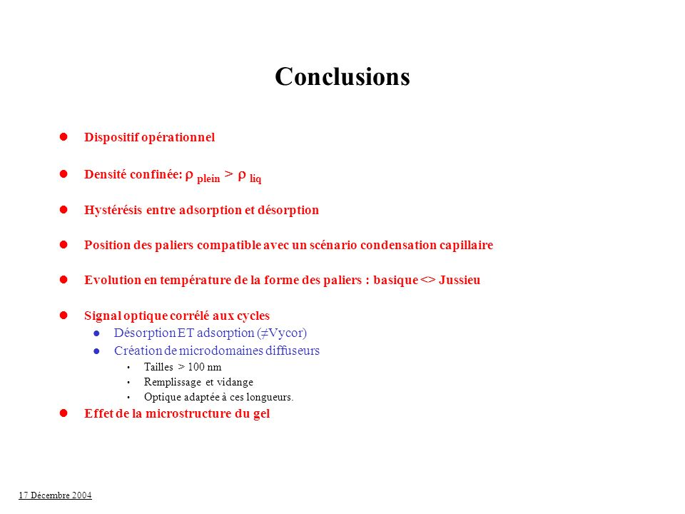 Conclusions Dispositif opérationnel