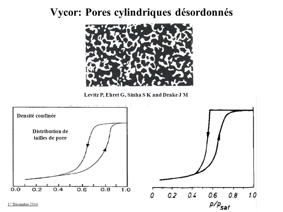 Vycor: Pores cylindriques désordonnés