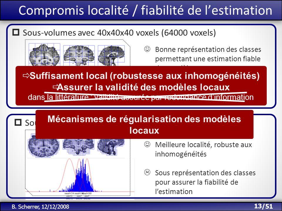 Compromis localité / fiabilité de l'estimation