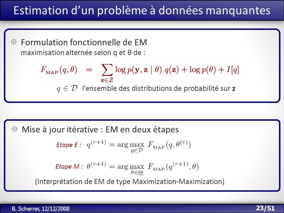 Estimation d'un problème à données manquantes
