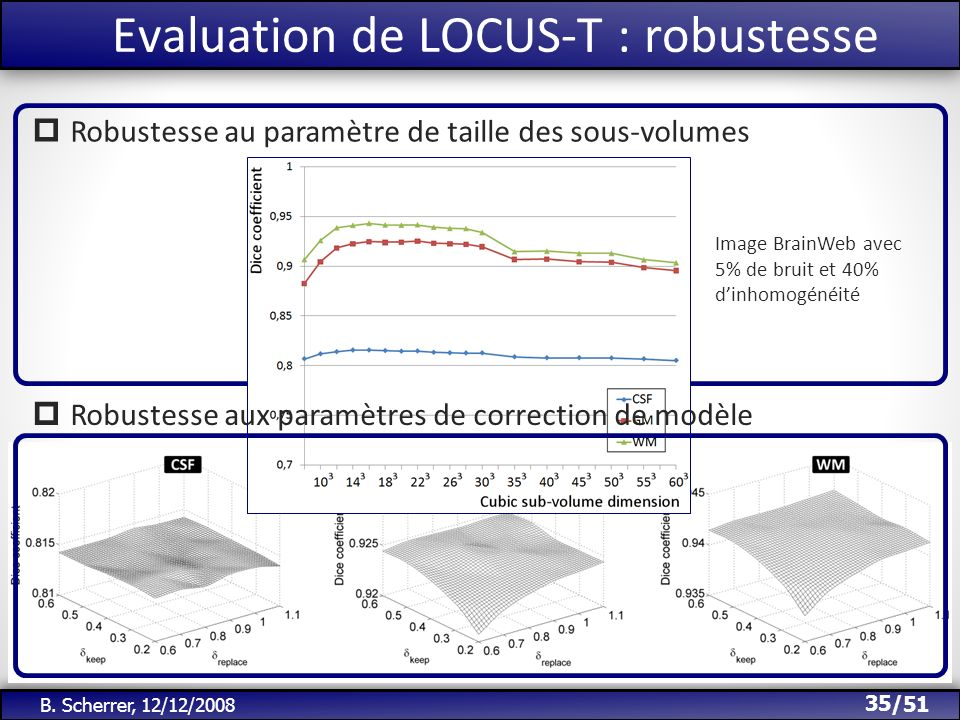 Evaluation de LOCUS-T : robustesse