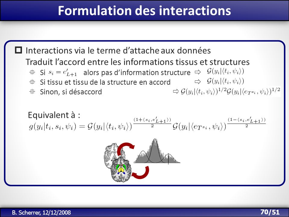 Formulation des interactions