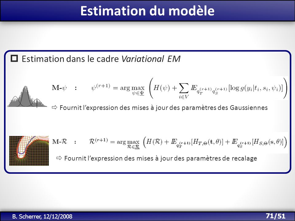 Estimation du modèle Estimation dans le cadre Variational EM