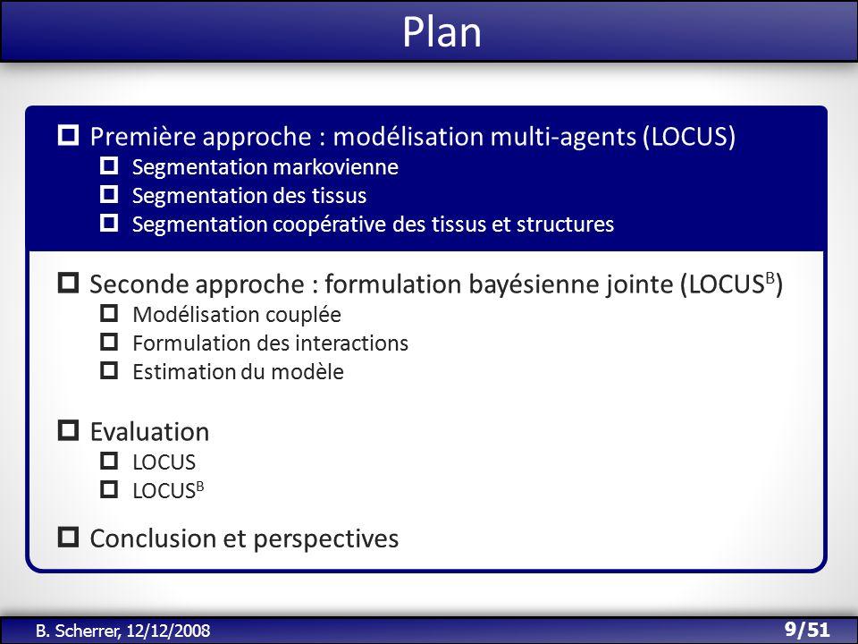 Plan Première approche : modélisation multi-agents (LOCUS)