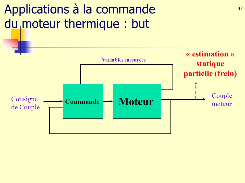 « estimation » statique partielle (frein)