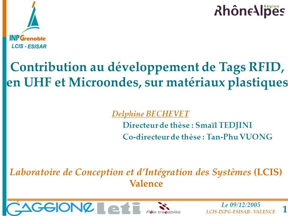 Laboratoire de Conception et d'Intégration des Systèmes (LCIS) Valence