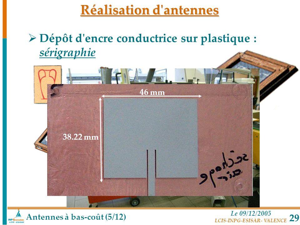 Réalisation d antennes