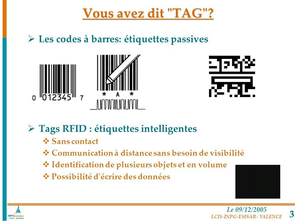 Vous avez dit TAG Les codes à barres: étiquettes passives