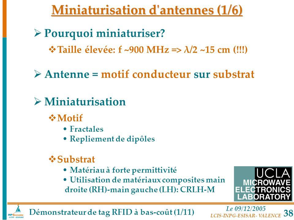 Miniaturisation d antennes (1/6)