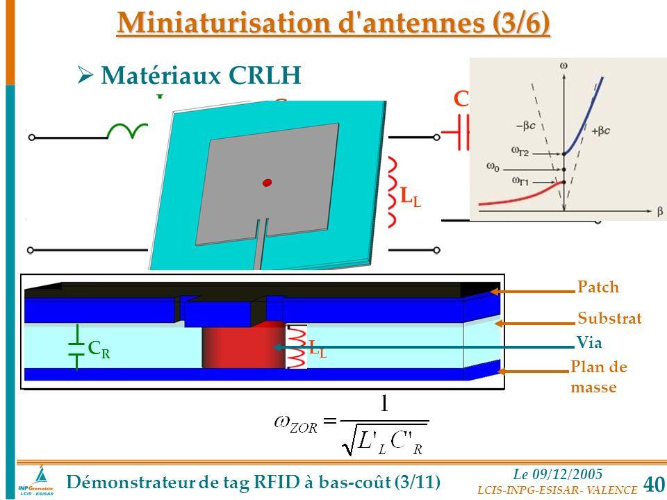Miniaturisation d antennes (3/6)