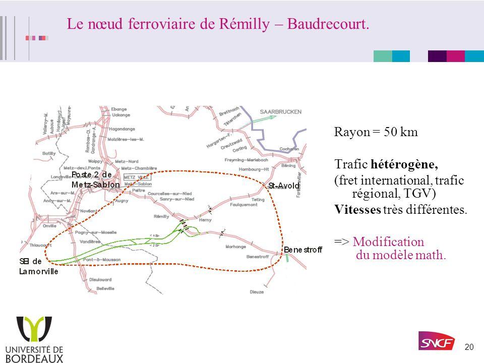Le nœud ferroviaire de Rémilly – Baudrecourt.