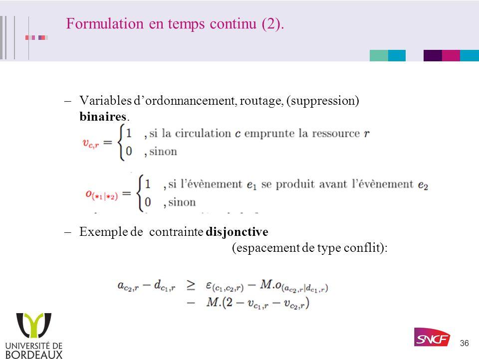 Formulation en temps continu (2).