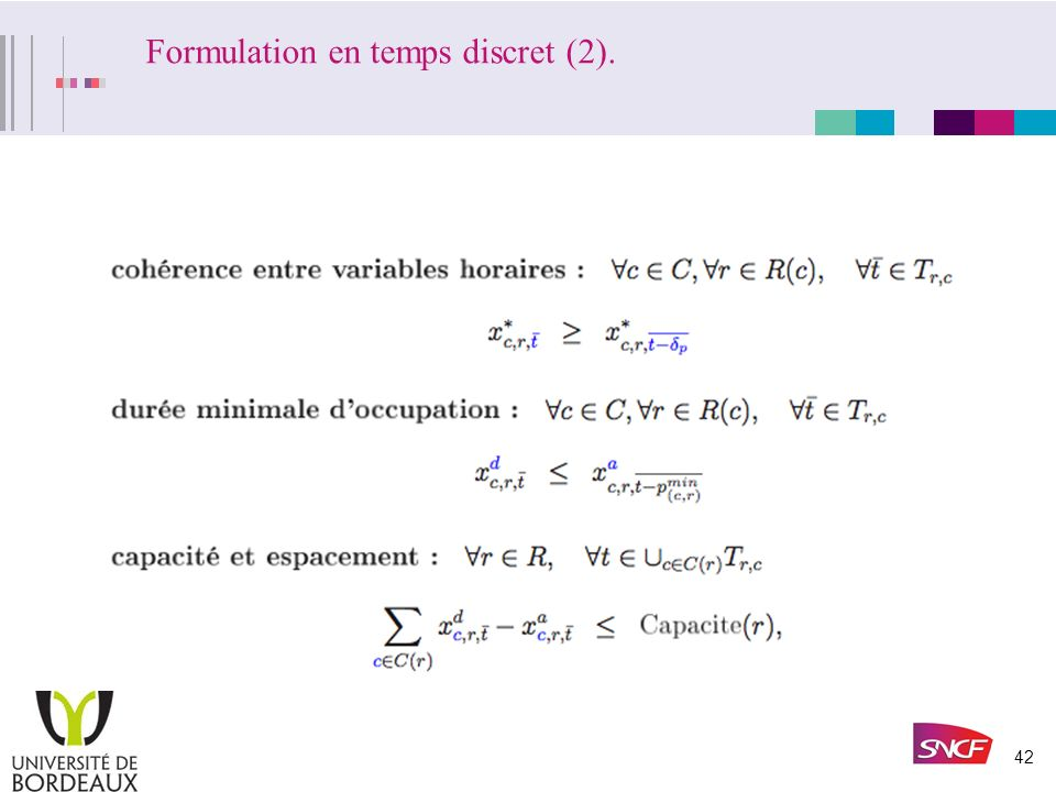 Formulation en temps discret (2).