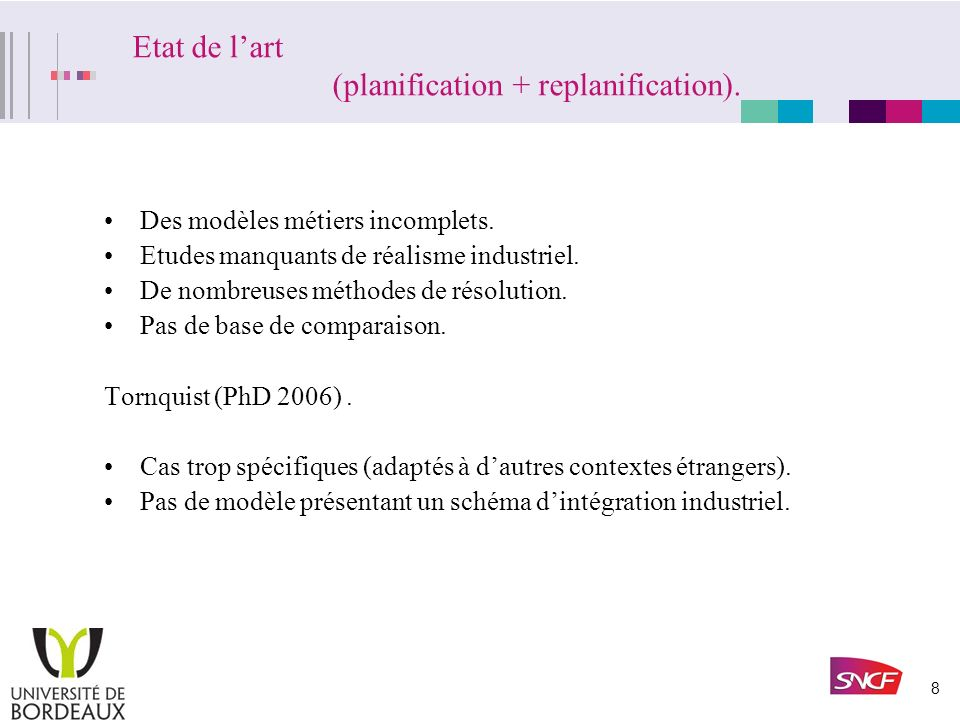Etat de l'art (planification + replanification).