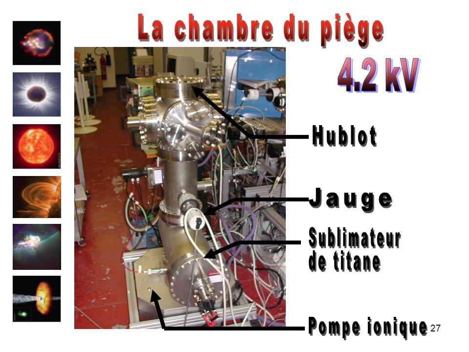 La chambre du piège 4.2 kV Hublot Jauge Sublimateur de titane Pompe ionique