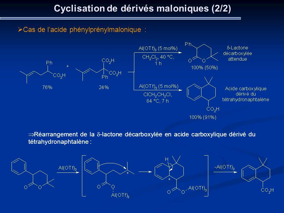 Cyclisation de dérivés maloniques (2/2)