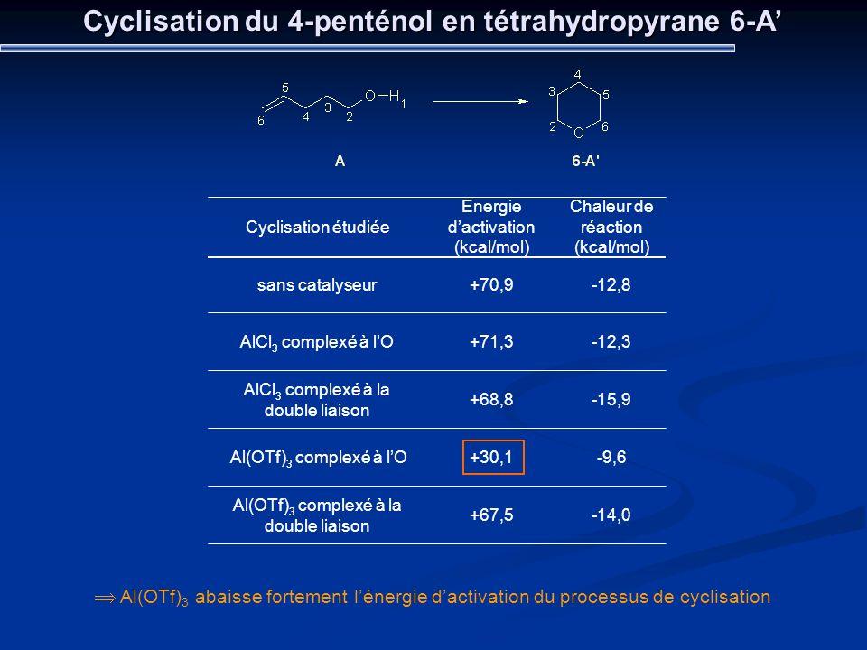 Cyclisation du 4-penténol en tétrahydropyrane 6-A'